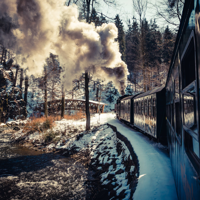 """Eastern German Steam Train"" stock image"