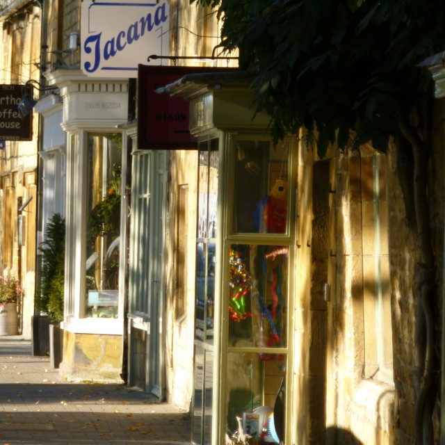 """MoretoninMarsh High Street, Cotswolds"" stock image"