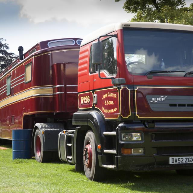"""Stram Fair Lorry"" stock image"