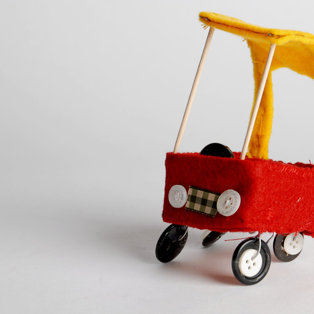 """""""Lil Red Car"""" stock image"""