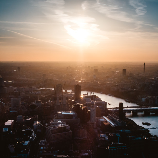 """London Shard Sunset"" stock image"