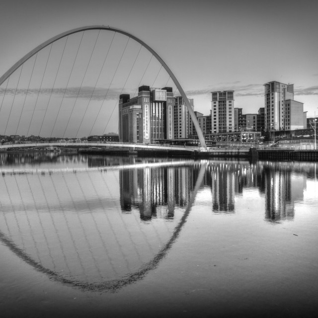 """Newcastle Millenium Bridge"" stock image"
