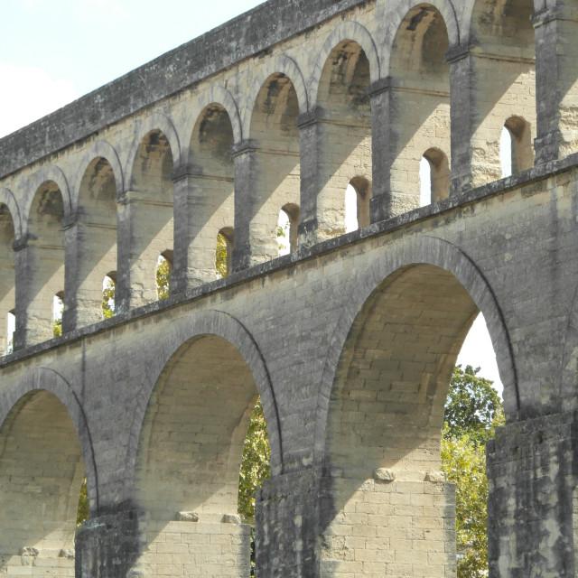 """""""Saint Clément Aqueduct"""" stock image"""