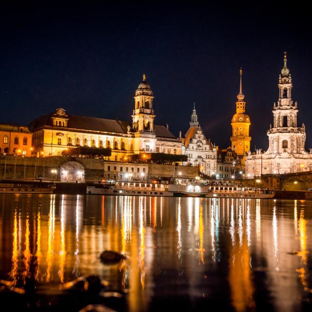 """""""Dresden Skyline"""" stock image"""