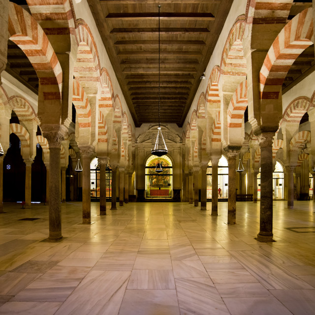 """Mezquita Interior in Cordoba"" stock image"