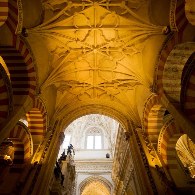 """Mezquita Cathedral Interior in Cordoba"" stock image"