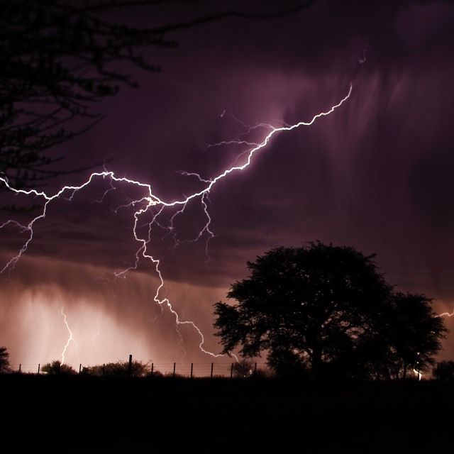 """Thunder Storm and Lightning"" stock image"