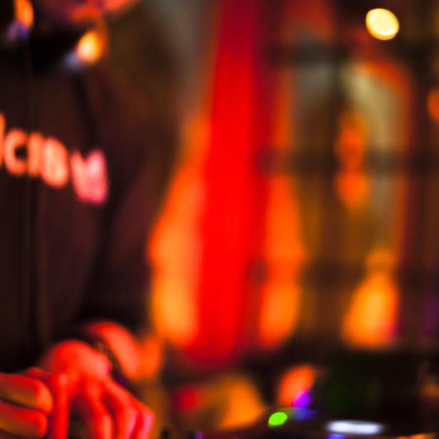 """China nightlife bar Chinese nightclub disco wedding party night dj deejay"" stock image"