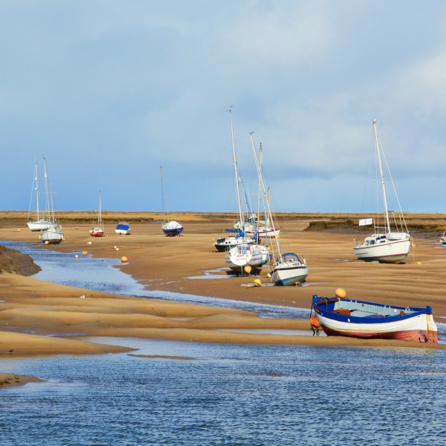 """The North Norfolk Coast."" stock image"