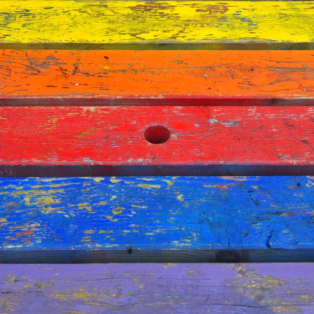 """painted planks wood background"" stock image"