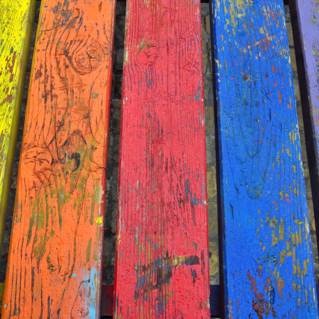 """""""vivid colors wood background"""" stock image"""