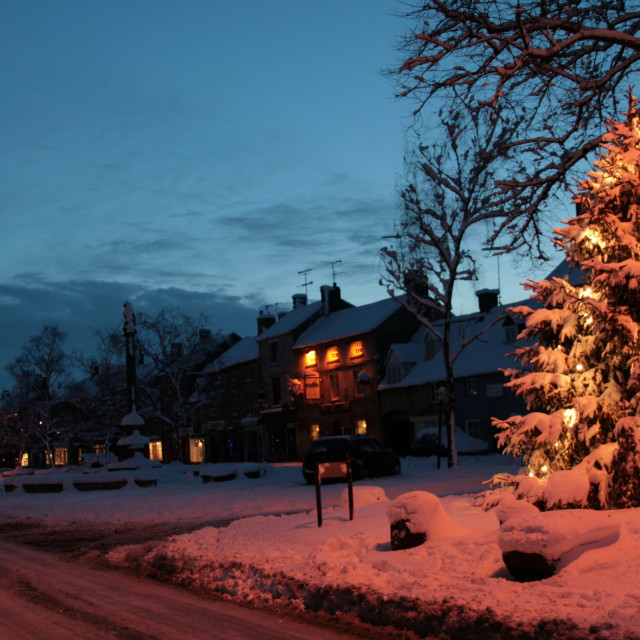 """""""Christmas in the Cotswolds"""" stock image"""