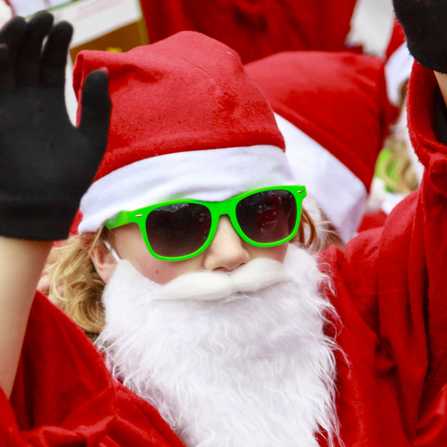 """Green Santa"" stock image"