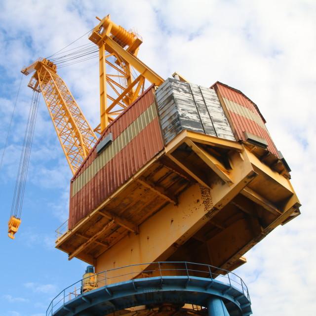 """Dockyard Crane"" stock image"