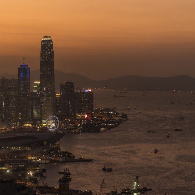"""Hong Kong Island during Night"" stock image"