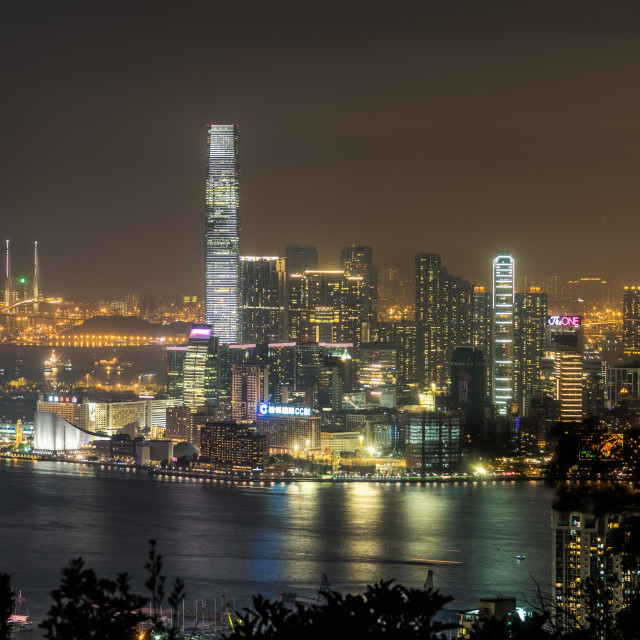 """Hong Kong - Kowloon Side"" stock image"