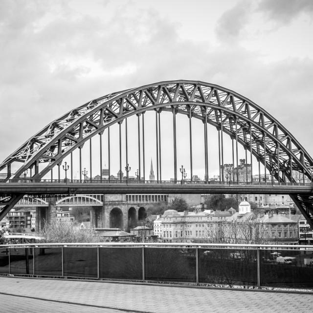 """Tyne Bridge B&W"" stock image"