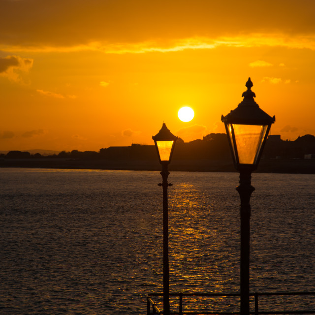"""""""Sunset over the Solent"""" stock image"""