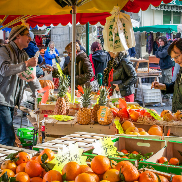 """Saturday Market December St.Girons France"" stock image"