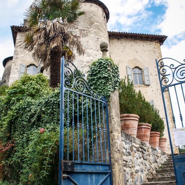 """Through Chateau Gates in Seix"" stock image"