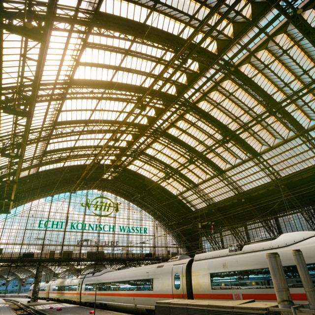 """Cologne Main Station"" stock image"