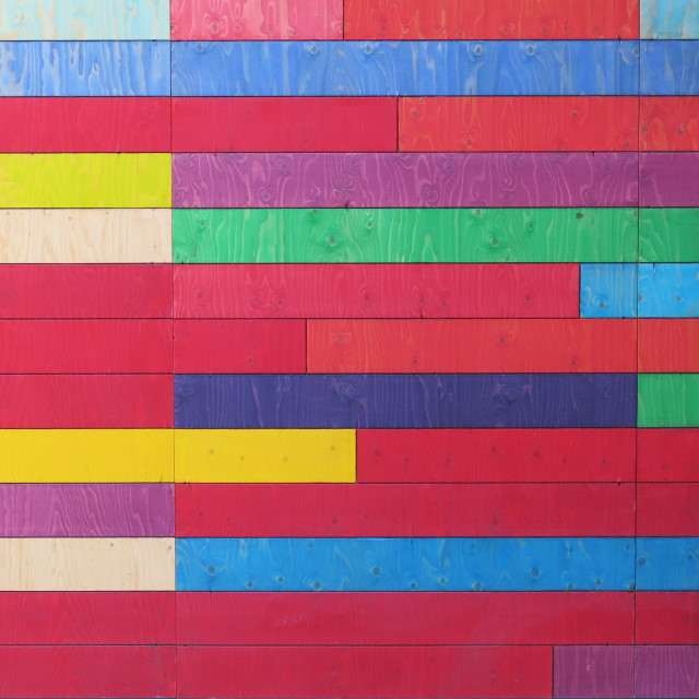 """""""Colours on the wall"""" stock image"""