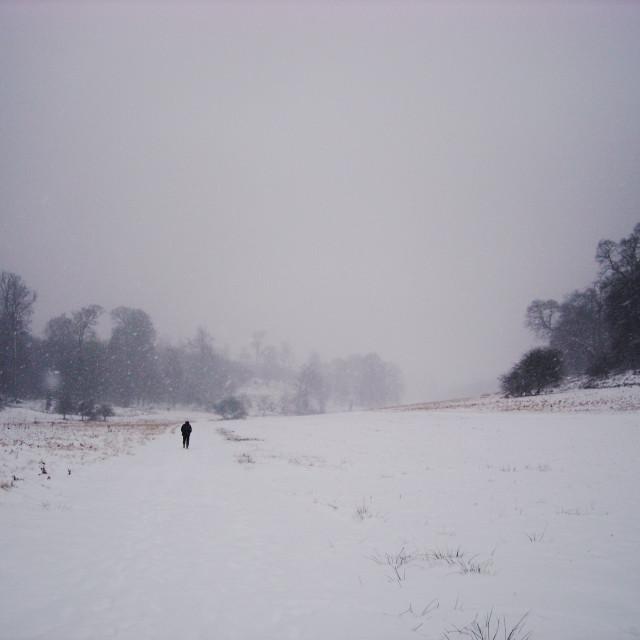 """Long walk home"" stock image"