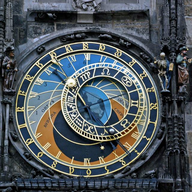 """Astronomical clock"" stock image"