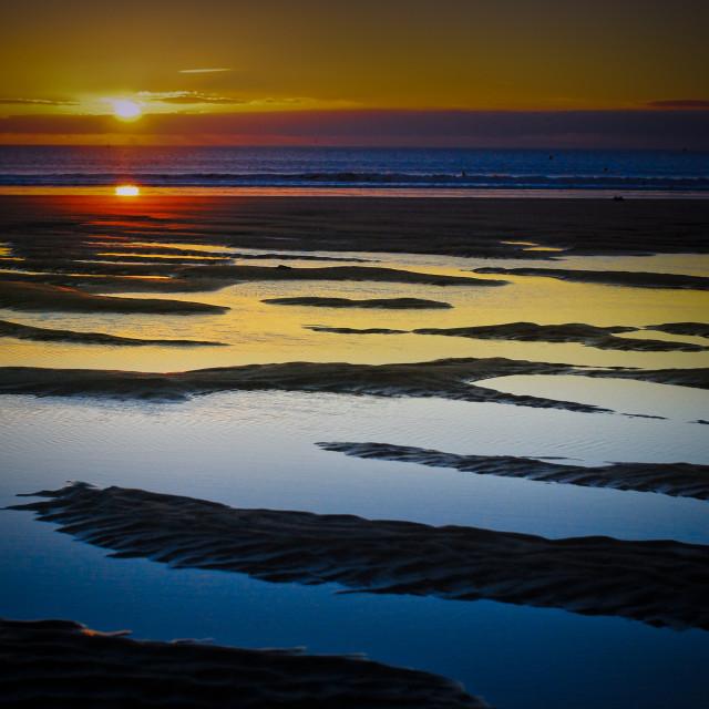 """""""Wales sunset - Aberavon"""" stock image"""