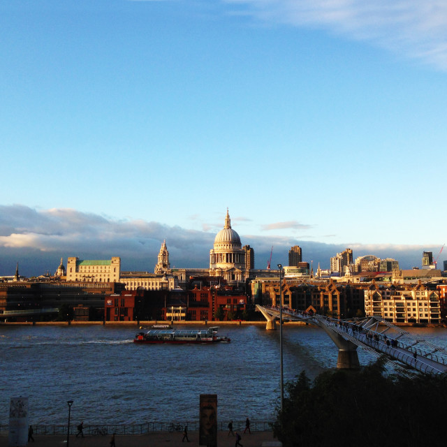 """""""St Paul's Cathedral from Bankside"""" stock image"""