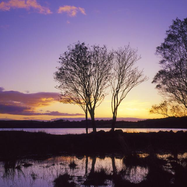 """Overwater sunset"" stock image"
