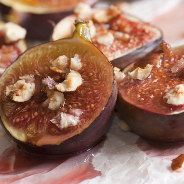 """Honey-Roast Figs"" stock image"