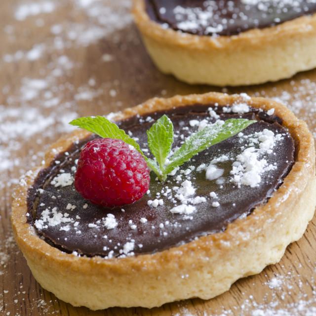 """Tartes au chocolate"" stock image"