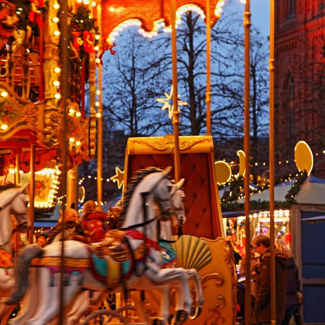 """Christmas Market #3"" stock image"