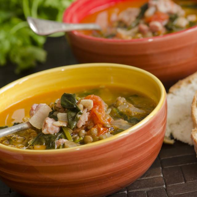 """Italian soup"" stock image"