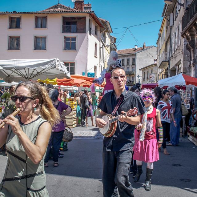 """Street Musicians in the South Of France"" stock image"