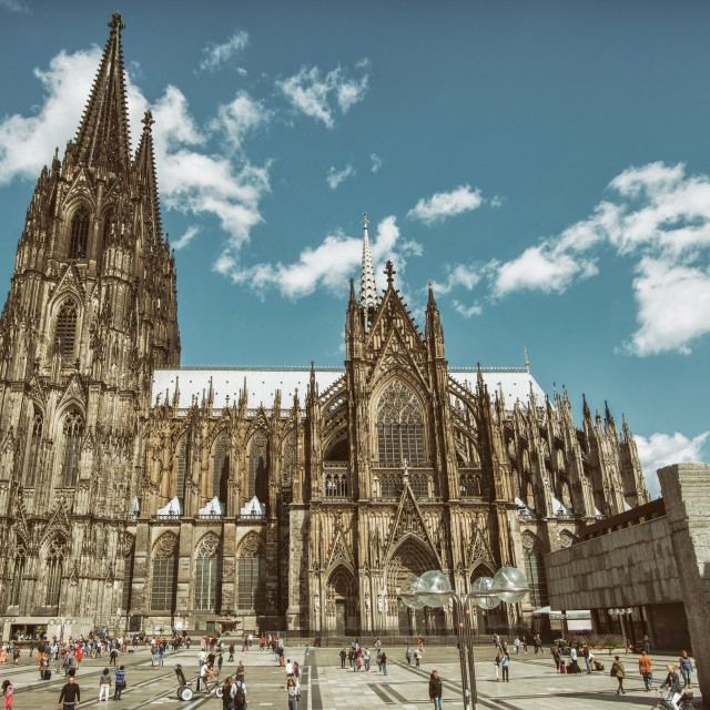 """Wolkendach (Cologne Cathedral)"" stock image"