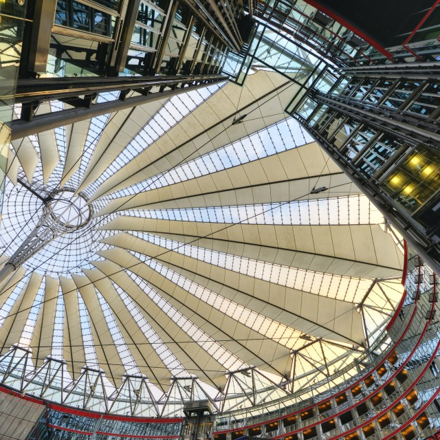 """Lines at Sony Center (Berlin)"" stock image"