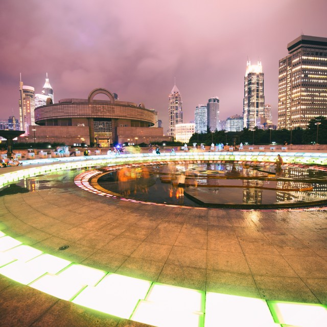 """PPS Swirl (People´s Square, Shanghai)"" stock image"