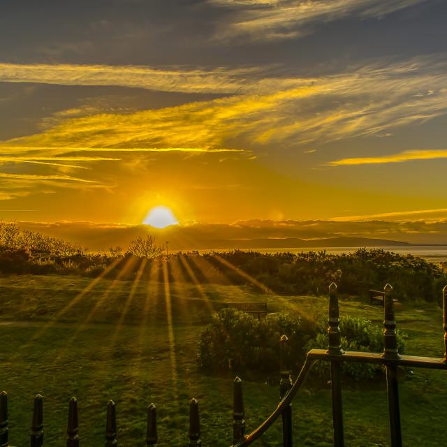 """Welsh Sunset"" stock image"