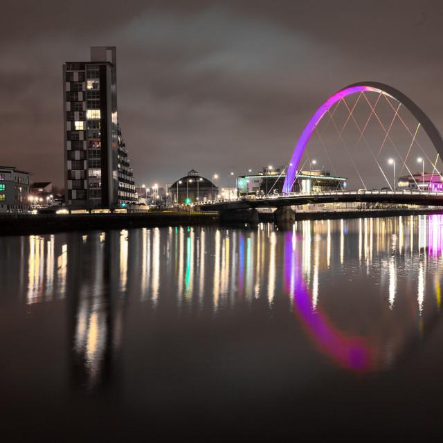 """""""Squinty Bridge, Glasgow"""" stock image"""