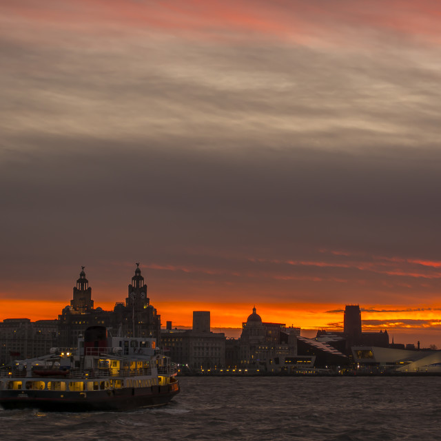 """Ferry across the Mersey"" stock image"