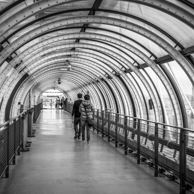 """Tunnel Passage At Pompidou Centre Paris"" stock image"