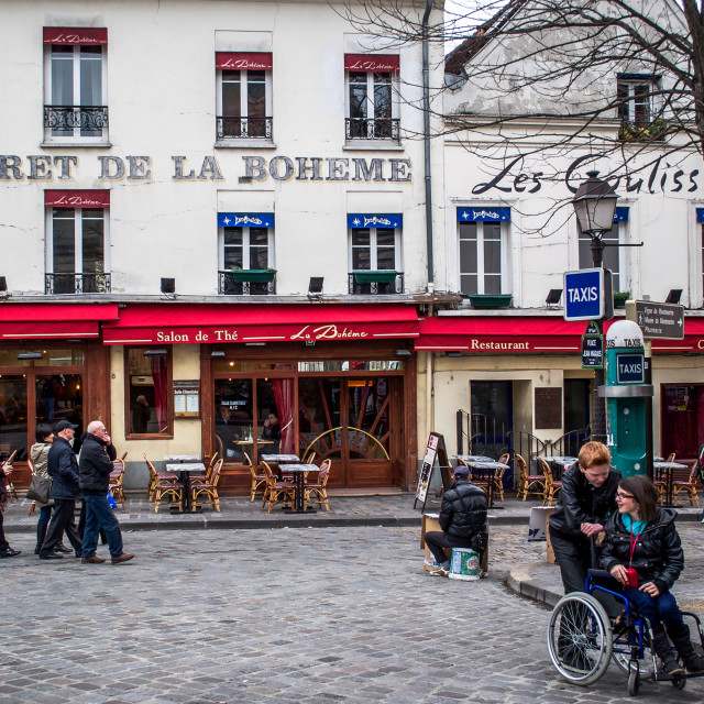 """Streets of Montmartre in Paris in April"" stock image"