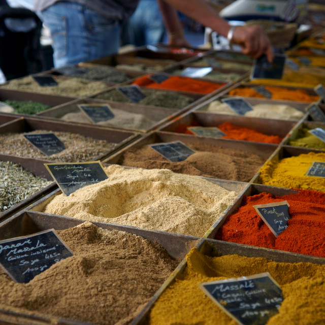 """Spice Market, French Riviera"" stock image"