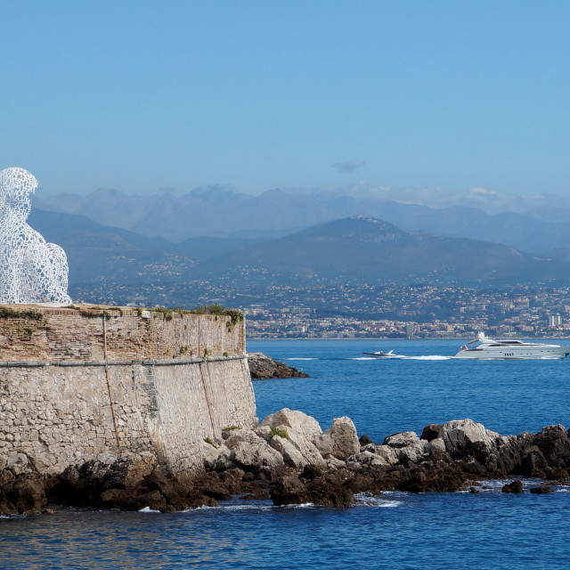 """Nomade Sculpture Looking Towards Nice"" stock image"