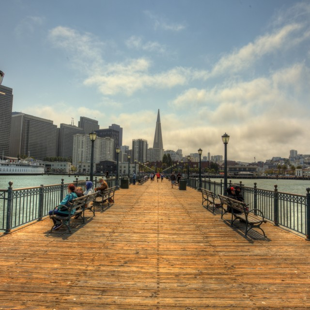 """San Francisco Pier"" stock image"