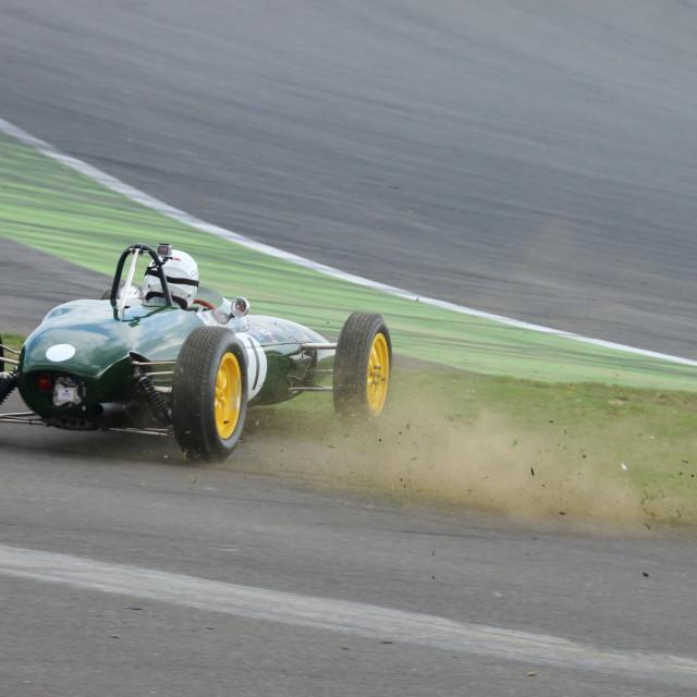 """Federico Buratti, Lotus 21 1960s F1 Grand Prix Car"" stock image"