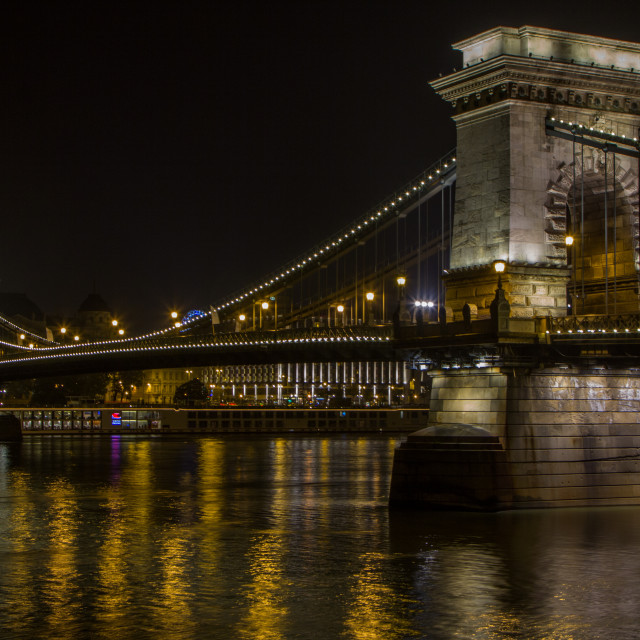 """Chain Bridge, Budapest"" stock image"