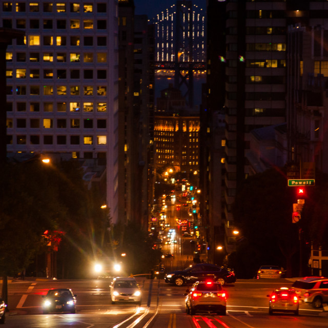 """California Street, San Francisco"" stock image"